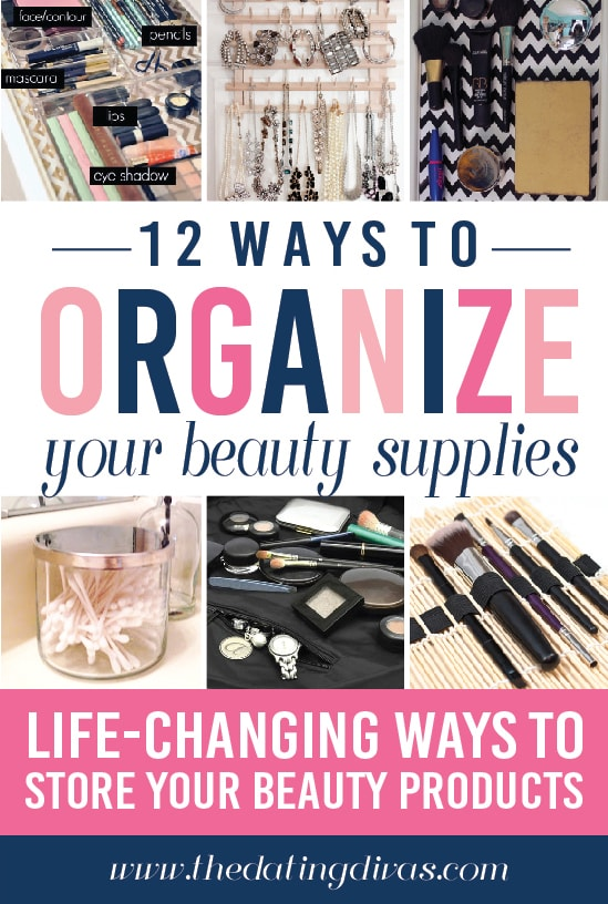 12 Ways to Organize your Beauty Supplies