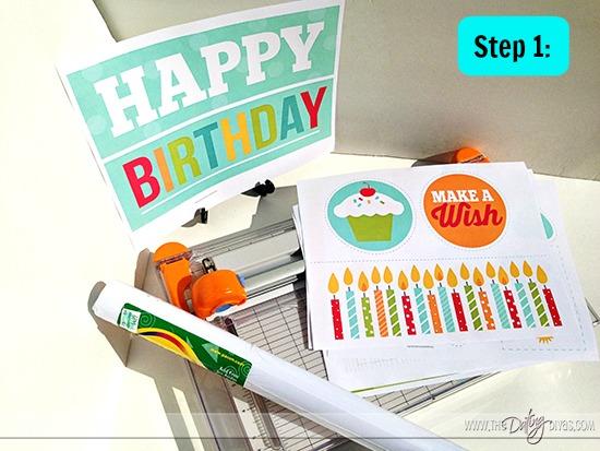 birthday banner materials