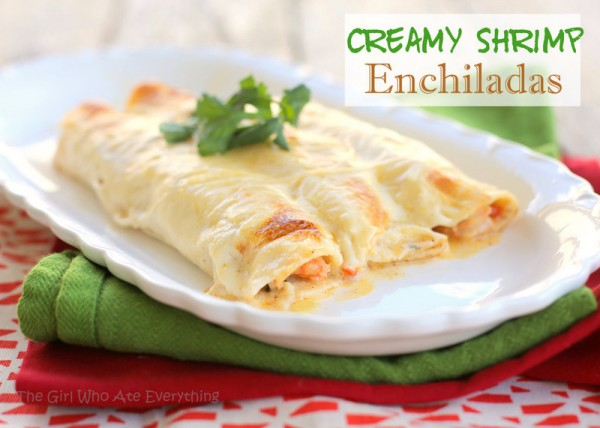 cami- zorro date night-creamy shrimp enchiladas- the girl who ate everything
