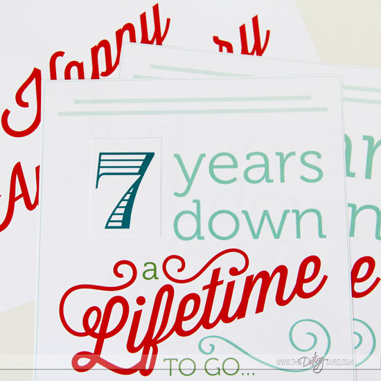 Anniversary Printables Pack Photo Prop Sign