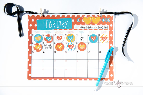 Cute Calendar for 21 Day Habit Challenge