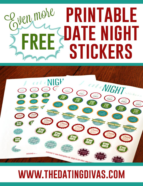 photo relating to Printable Calendar Stickers referred to as No cost Printable Day Evening Stickers