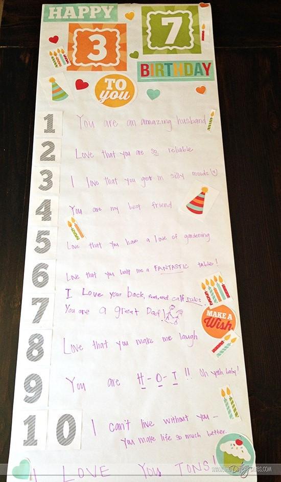 Christmas Gift Ideas For Husband Diy Birthday Banner
