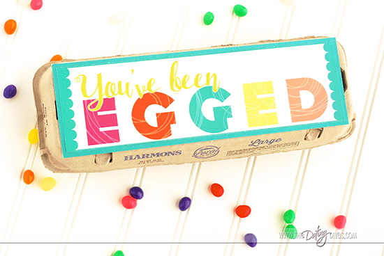 You've Been Egged egg carton printable.