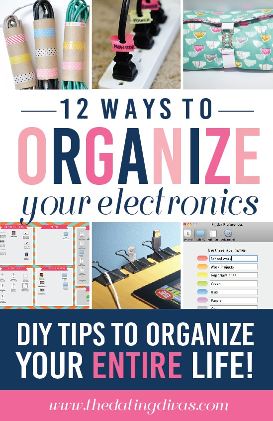 12 Ways to Organize your Electronics and Cords
