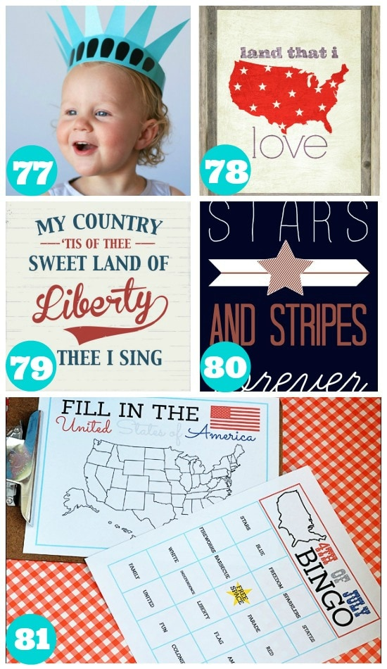 Awesome 4th of July Summer Printables