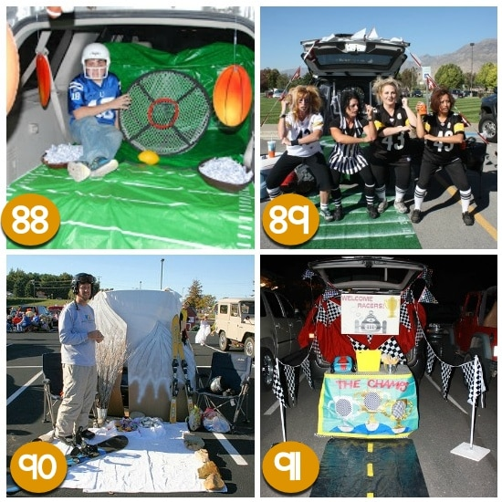 Trunk or Treat Ideas for Sport Fans