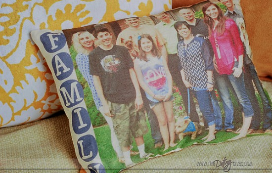 DIY Photo Pillow Family picture