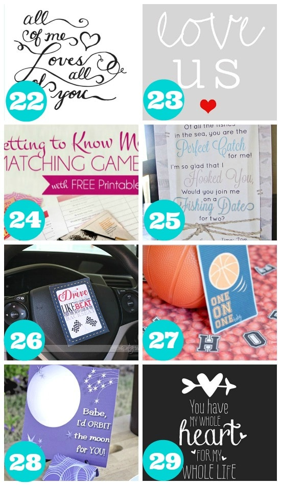 Great Summer Printables for Couples