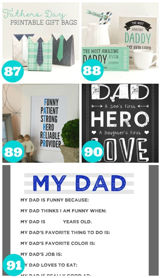 Great Fathers Day Free Printables