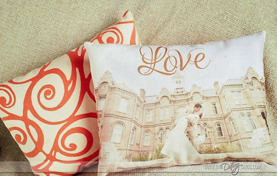 DIY Photo Pillow finished product