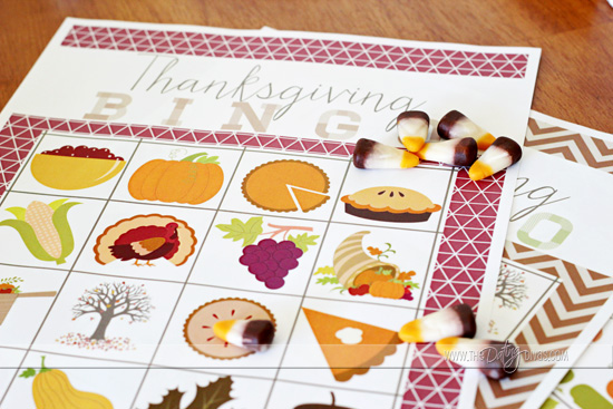 free thanksgiving bingo cards