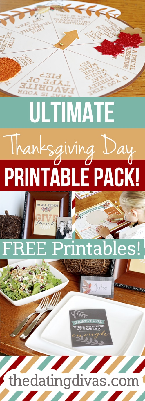 free thanksgiving day printable pack