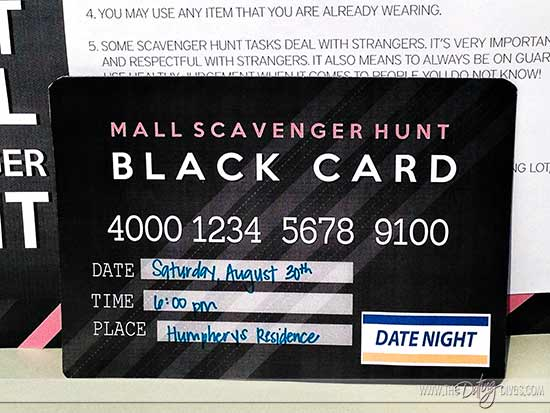 fun scavenger date night invite