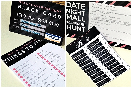 fun scavenger hunt date night 2 checklists