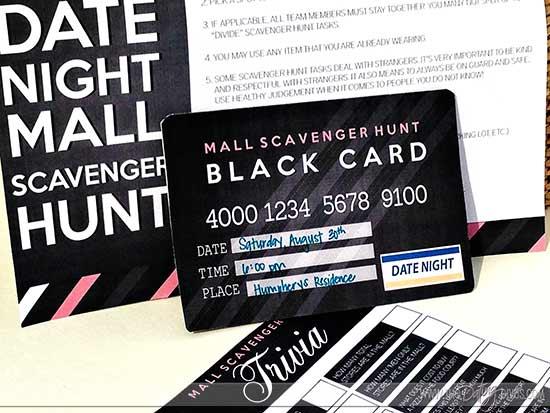 fun scavenger hunt date night invite and rules