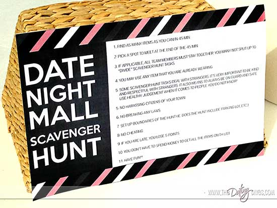 Mall Scavenger Hunt Date Night