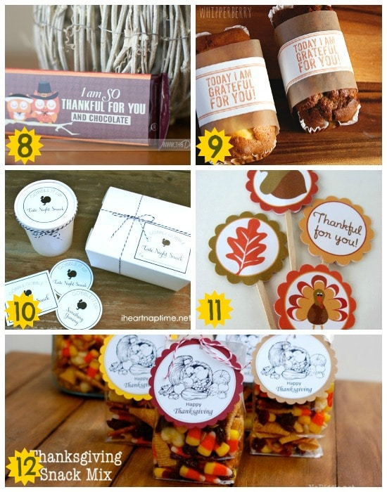 fun thanksgiving food printables