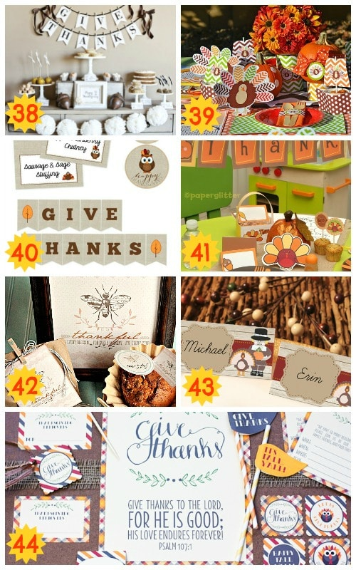 fun thanksgiving printable packs