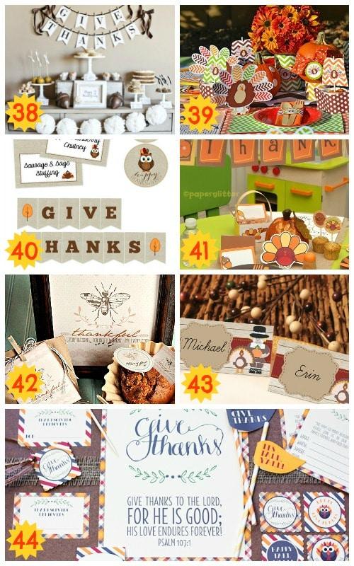 fun thanksgiving printable packs