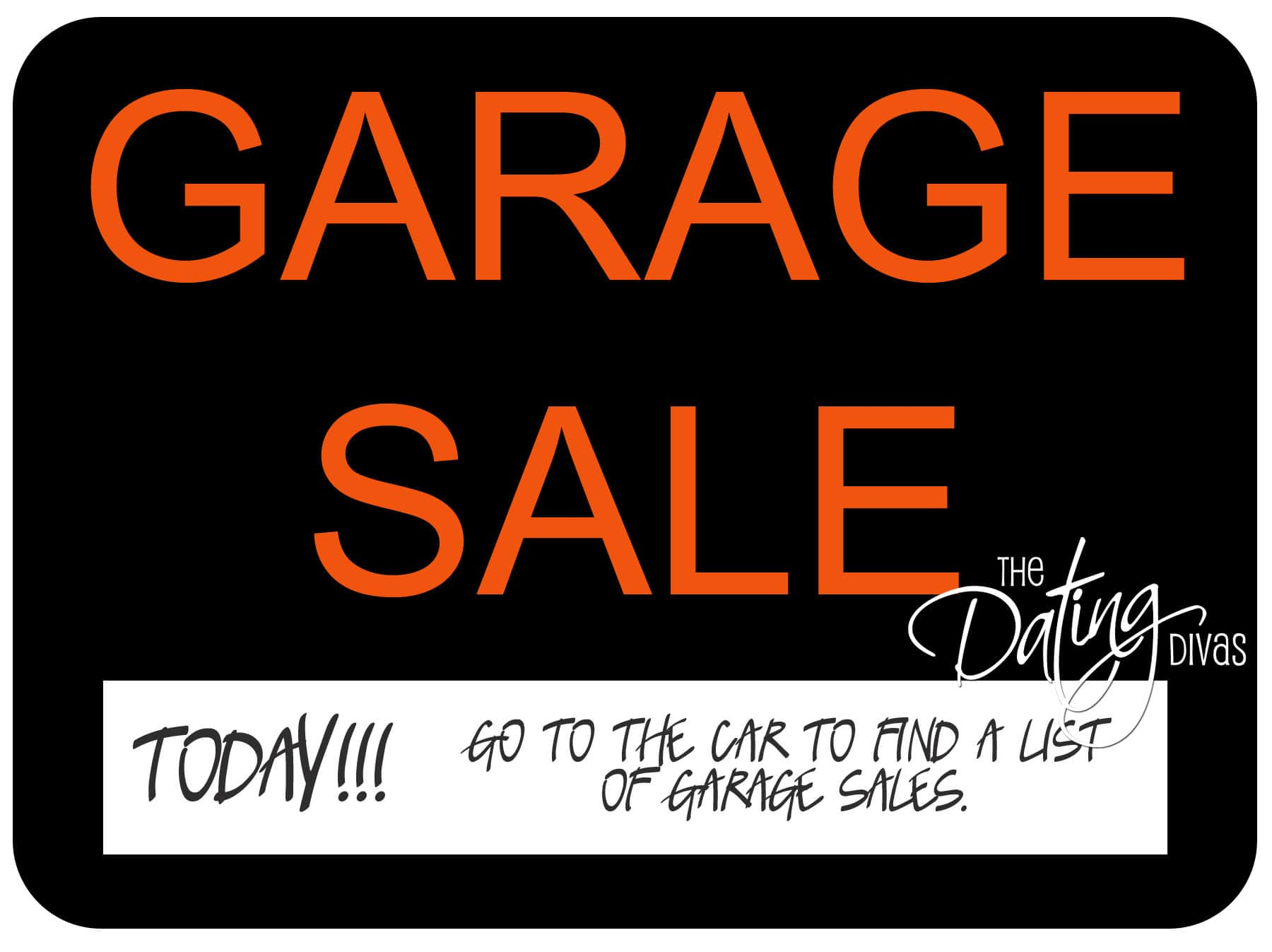 Garage Sale Scavenger Hunt Date Idea - A Creative Date