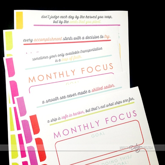 What a great way to make & organize your goals each month for the best year yet in 2015 from www.thedatingdivas.com