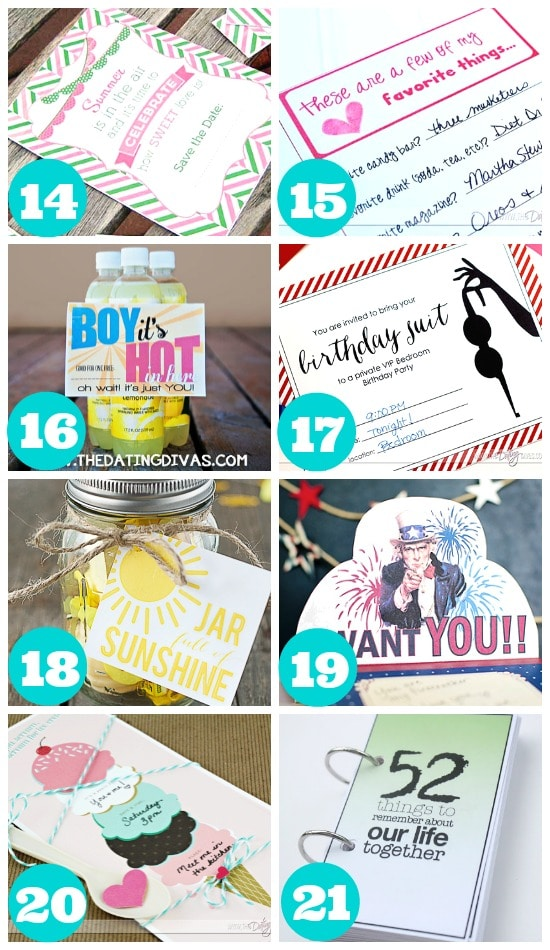 Great summer printables for your spouse