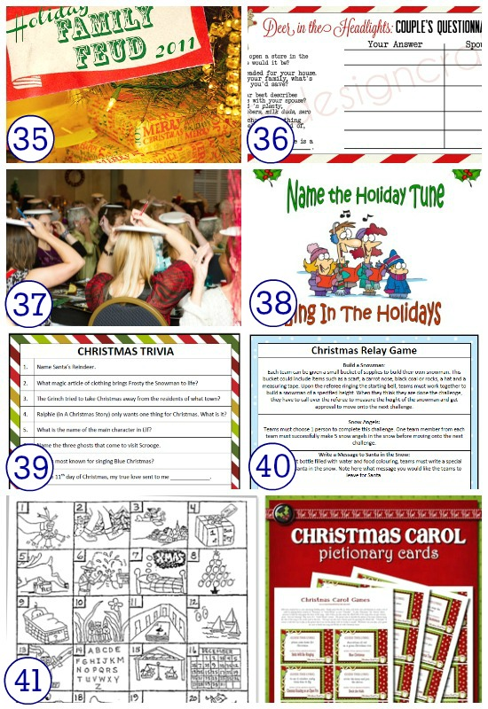 Great Christmas holiday games for adults.