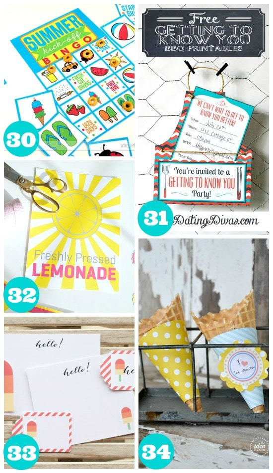 Awesome Summer Food Printables