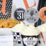 halloween cupcake wrap