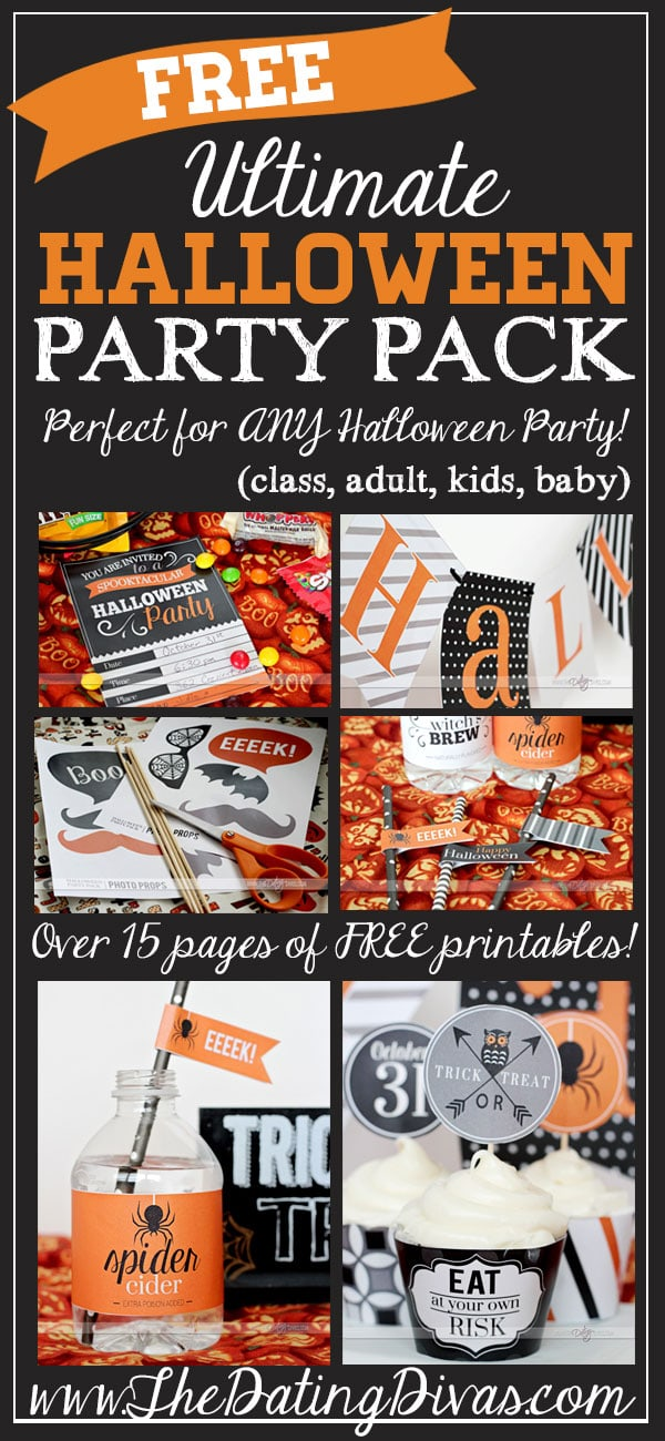 halloween free party pack pinterest