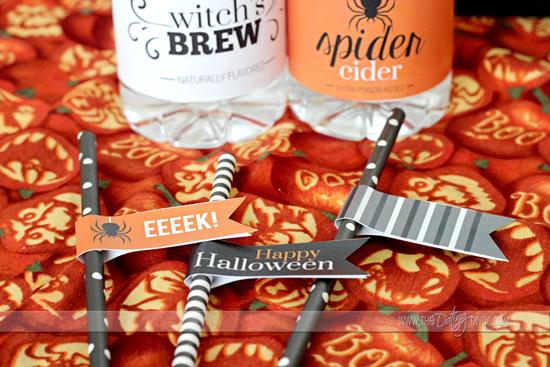 halloween straw flags