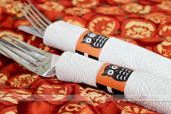 halloween utensil wraps