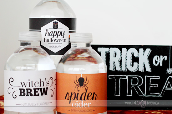 halloween water bottle wraps