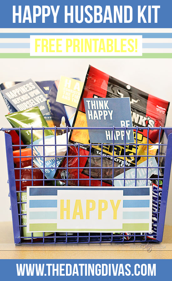 happy husband gift basket