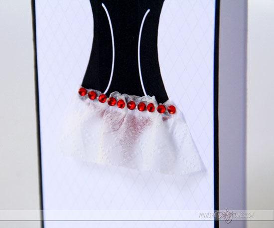 hot lingerie card crystal details