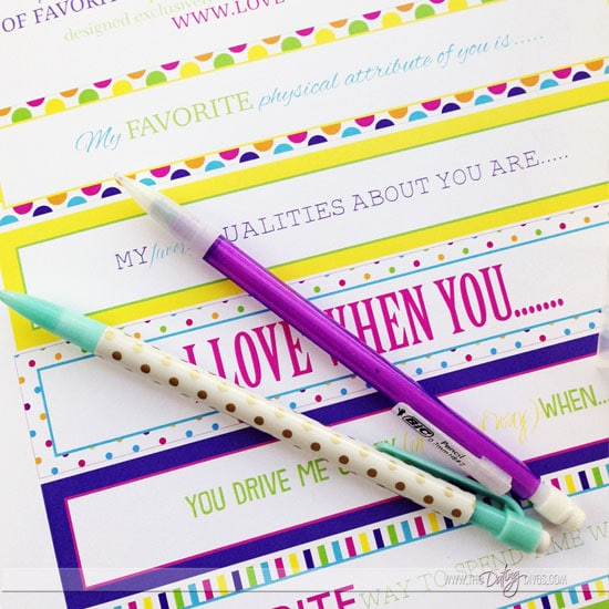 Customizable love notes.