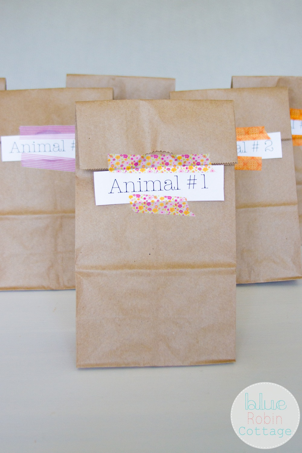 DIY paper sacks for a Family Date Night
