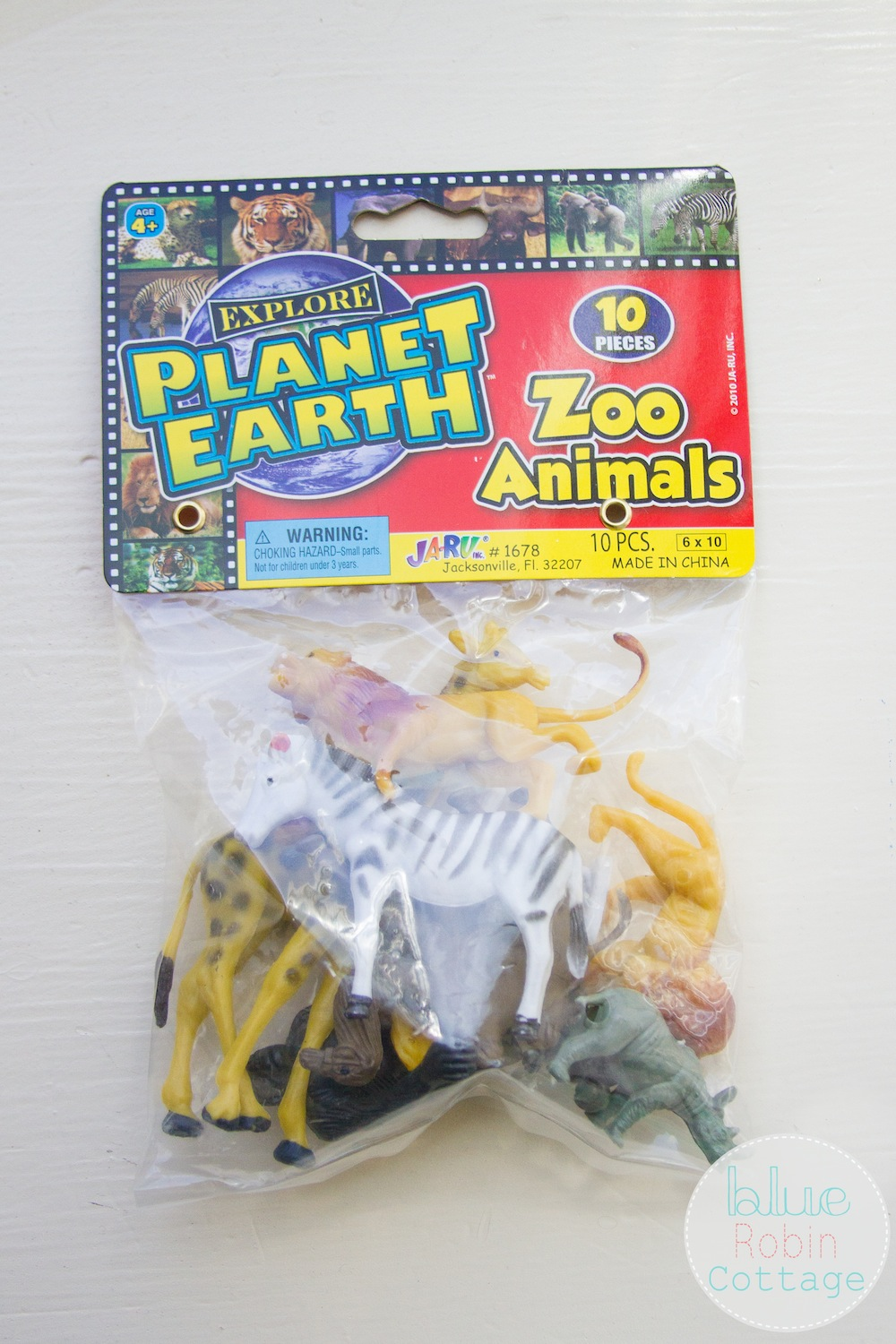 Plastic Zoo Animals for a DIY Family Date Night
