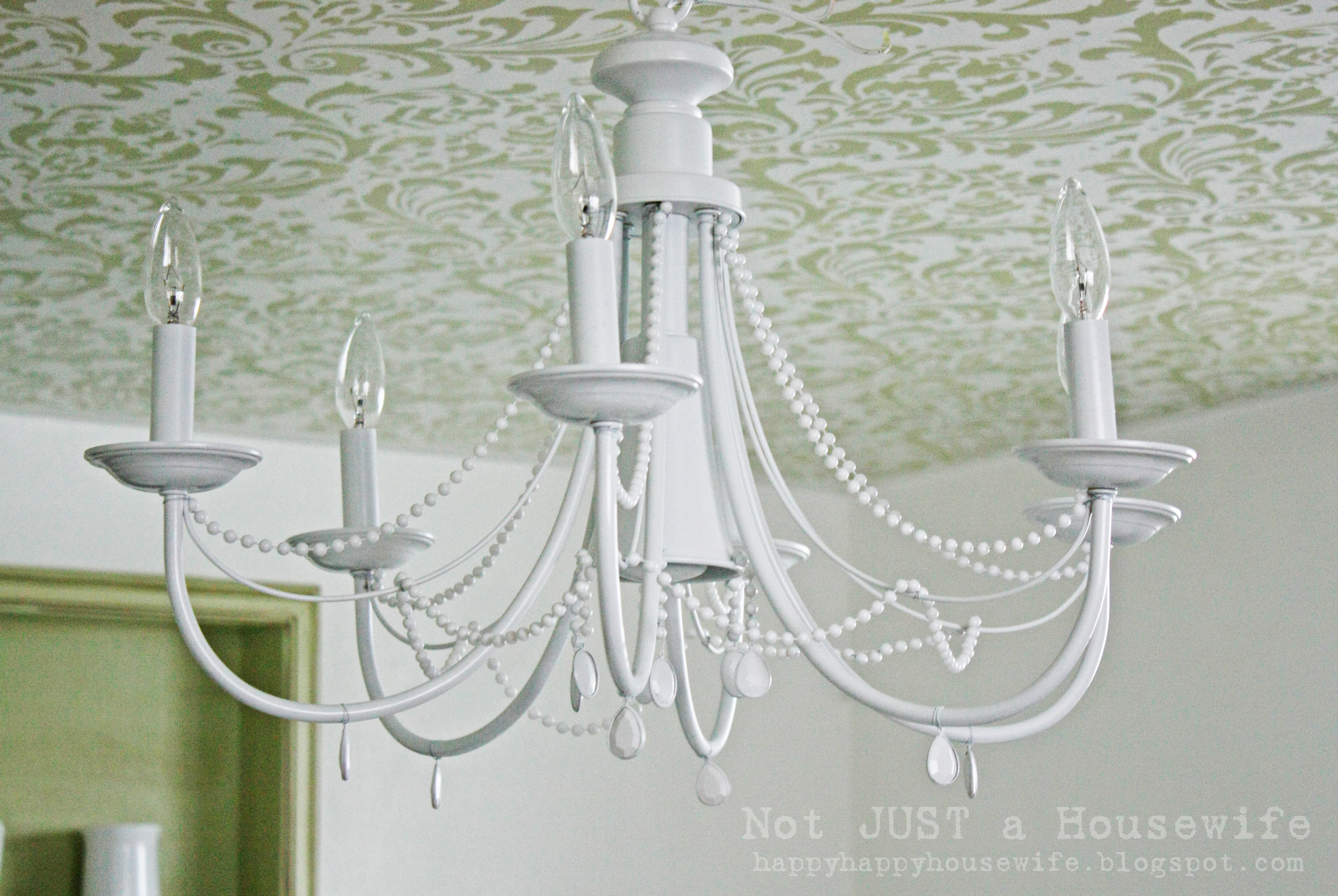 White DIY Chandelier