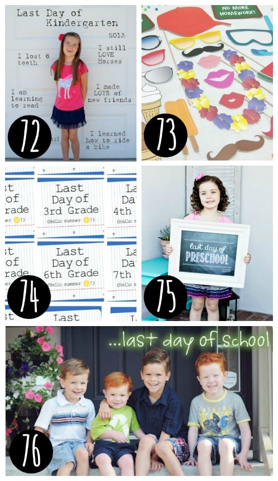 Top photo ideas for the end of school.