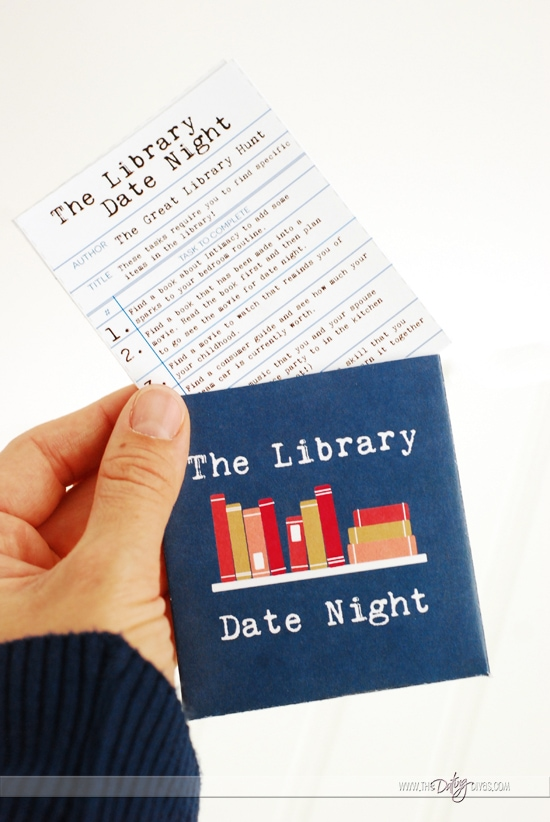 Library Date Night Scavenger Hunt Tasks