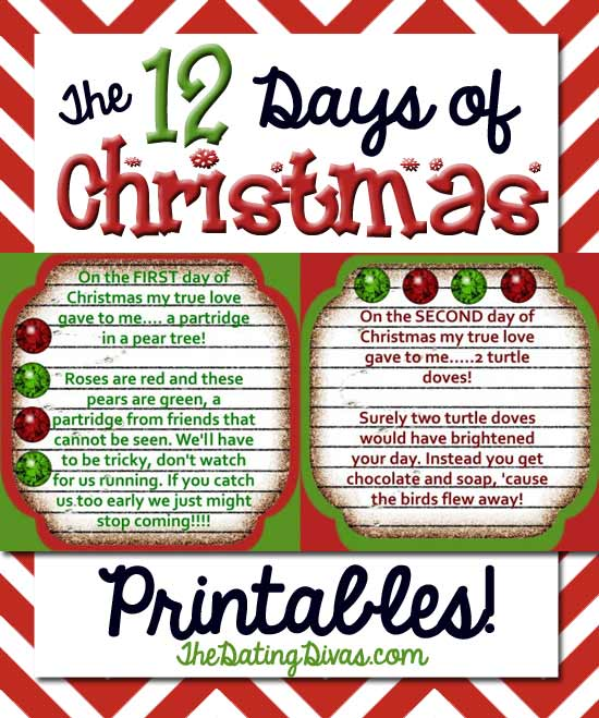 Gift Ideas For The 12 Days Of Christmas: The 12 Days Of Christmas