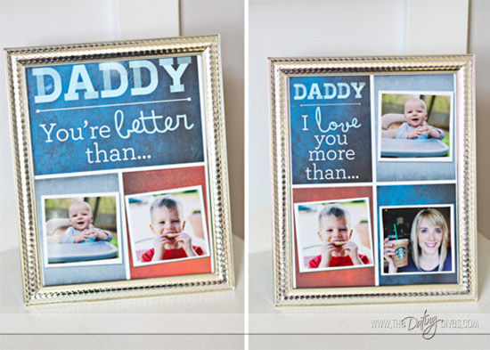 DIY Fathers Day Gift From The Kids Thedatingdivas