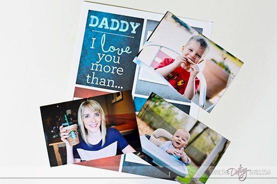 Father's Day Printable Photo Mat for DIY Father's Day gift www.thedatingdivas.com
