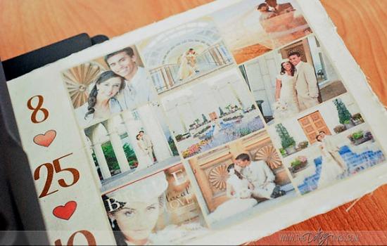 DIY Photo Pillow wedding day collage