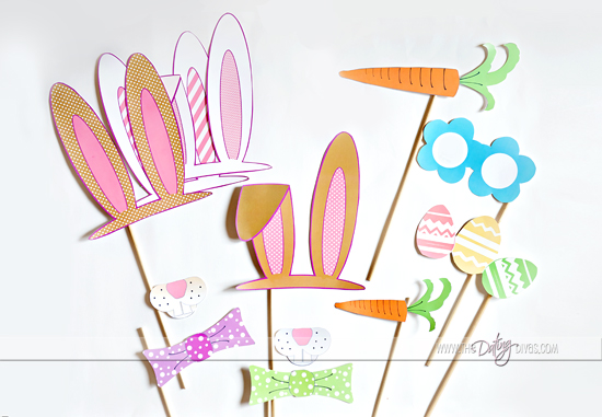 free easter themed photobooth printables