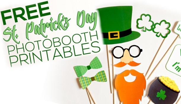 FREE St. Patrick's Day Photobooth Props!