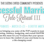 You're Invited: Third Successful Marriages Tele-Retreat