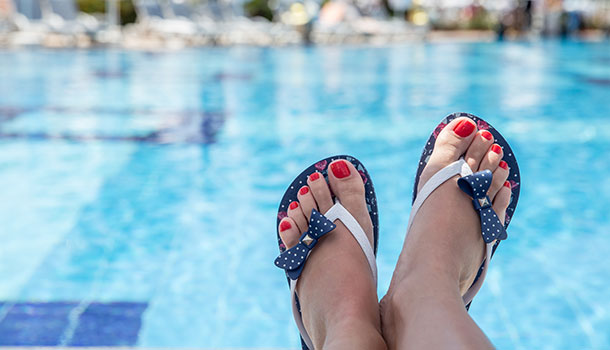 Perfect Flip Flop Toes